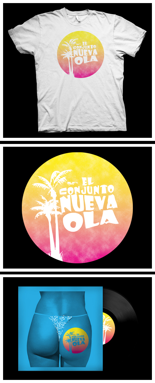 ECNO - Cover and t-shirt design for El Conjunto Nueva Ola