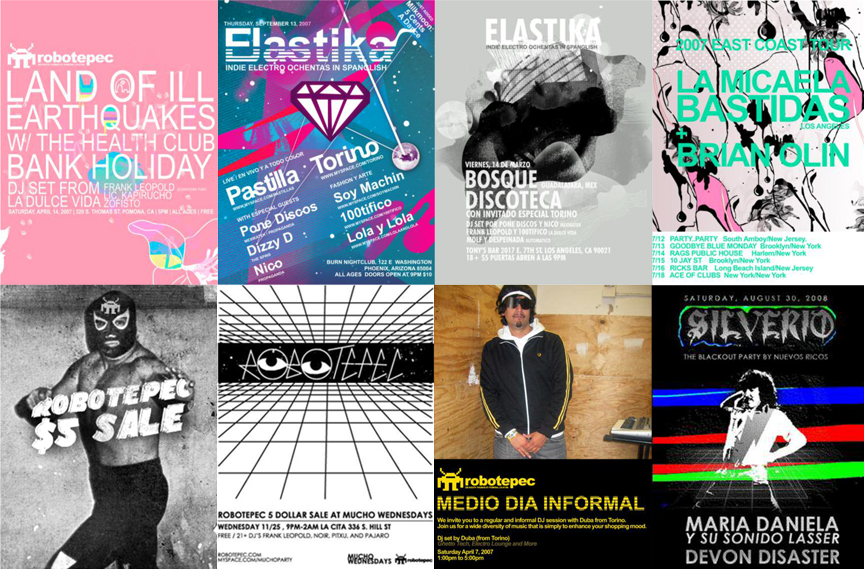 Various - Flyers for Robotepec, Nuevos Ricos and Noches Bipolar